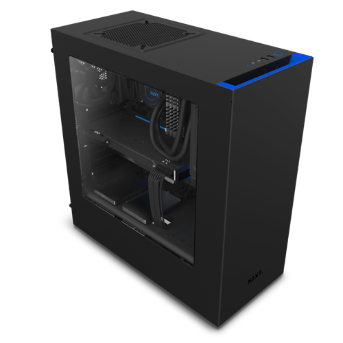 NZXT S340 Blue/Black Mid Tower Case