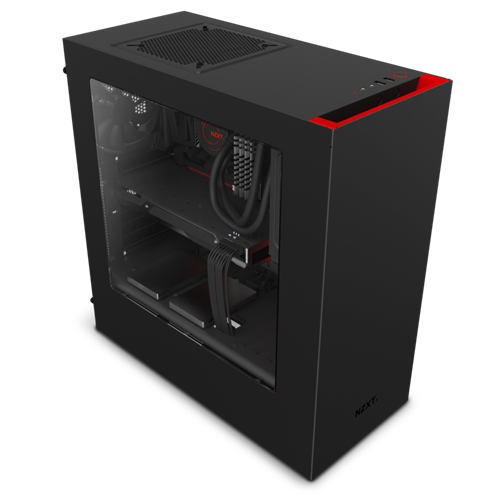 NZXT S340 Red/Black Mid Tower Case