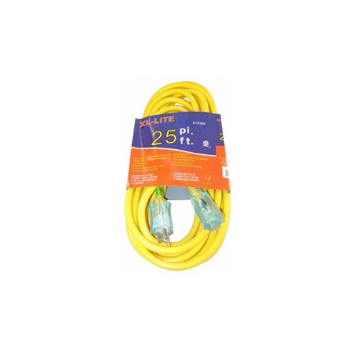 EXTENSION CORD 12 GAUGE X 25' - XL - LITE (RDE12325)