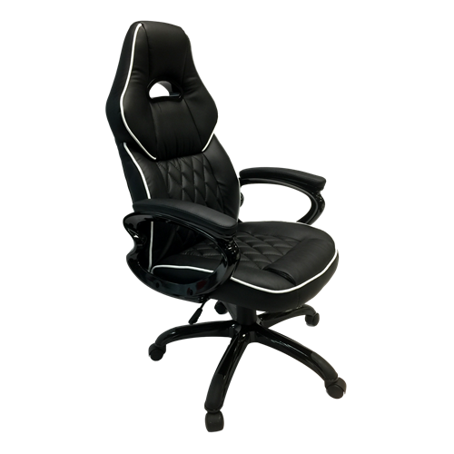 ViscoLogic Series GAMING Racing Style Swivel Home Office Chair YF-2736 (Black)