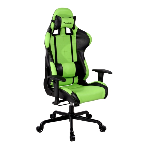 【ViscoLogic】 CAYENNE Metal Durable Gaming Chair (Green n Black)