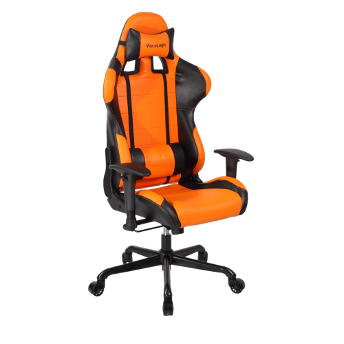 ViscoLogic Series CAYENNE Gaming Racing Style Swivel Office Chair (Orange & Black)