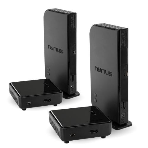 Nyrius NAVS500 HDMI Digital Wireless/Audio Video Sender/Receiver System with IR Remote Extender - 2 Pack