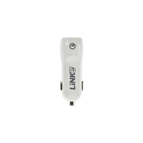 Linke Qualcomm Certified Quick Charge 2.0 USB Car Charger for iPhone / Mobile Phones - White