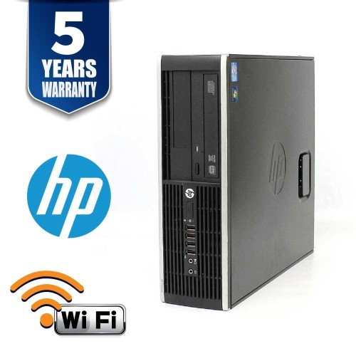 HP 8100 ELITE SFF I5 650 3.2 GHZ 12GB 250GB DVD WIN10 Pro 5YR WTY USB WIFI - Refurbished