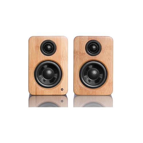 Kanto YU2 Powered Desktop Speakers w/ USB DAC and Sub-Out / 3IN Driver 50W Class D - Bamboo