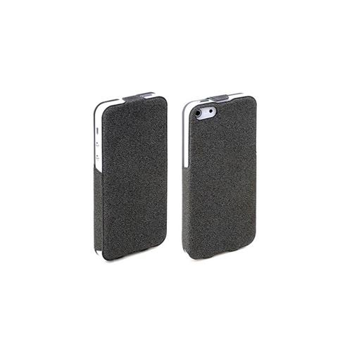 Rock Eternal Flip Leather Case for Apple iPhone 5 / 5S - Black