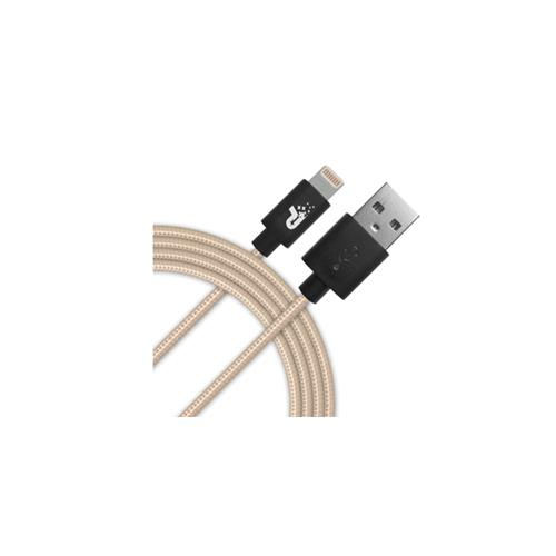 Pariot 3.3 FT Lighting Woven Cable - Gold
