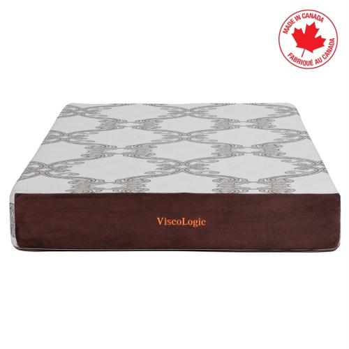 ViscoLogic [Made in CANADA] TRANCE Medium Firm Gel-Infused Memory Foam Mattress