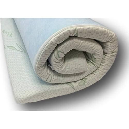 viscologic gel memory foam mattress topper with bamboo fibre washable cover full mattress. Black Bedroom Furniture Sets. Home Design Ideas