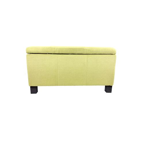 RetailPlus ERIE Rectangular Fabric Storage Ottoman Mustard