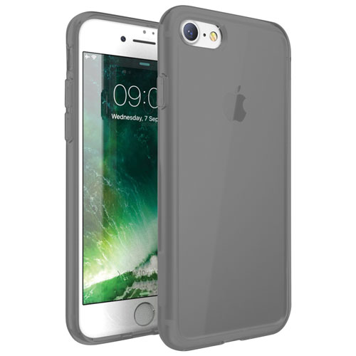 Exian iPhone 7 Fitted Soft Shell Case - Grey