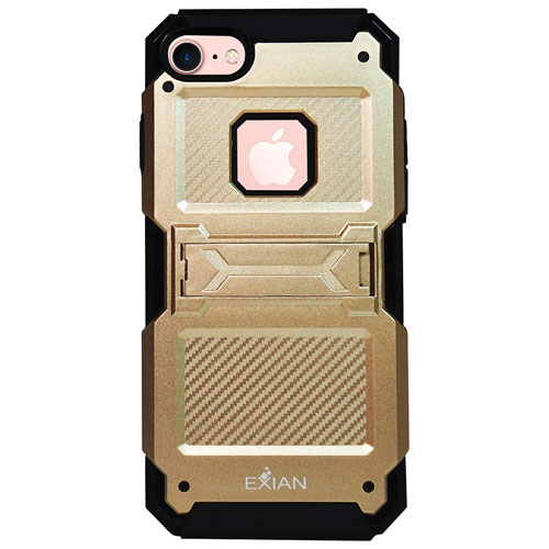 Exian iPhone 7 Fitted Soft Shell Case - Gold