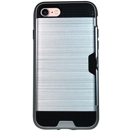 Étui souple ajusté d'Exian pour iPhone 7 - Argenté
