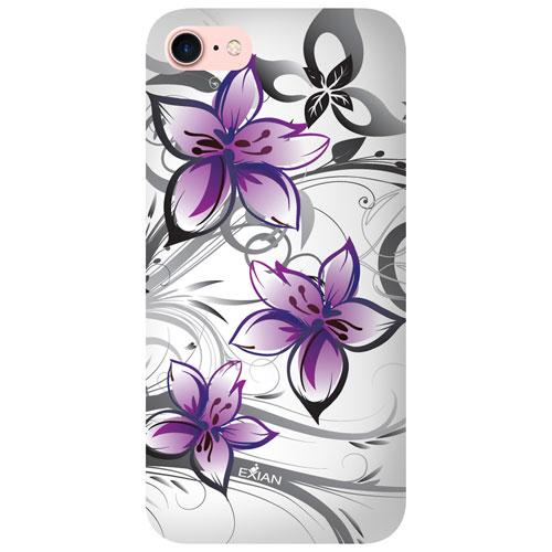 Étui souple à motif floral d'Exian pour iPhone 7 - Blanc