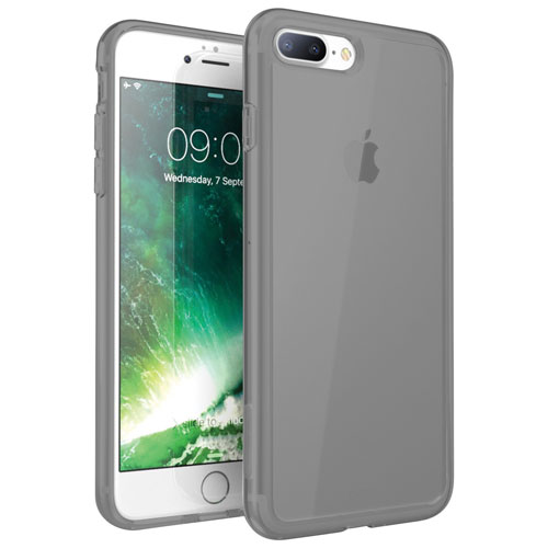 Exian iPhone 7 Plus Fitted Soft Shell Case - Grey