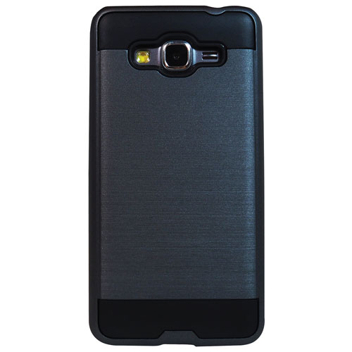 Exian Samsung Galaxy Grand Prime Fitted Soft Shell Case - Black