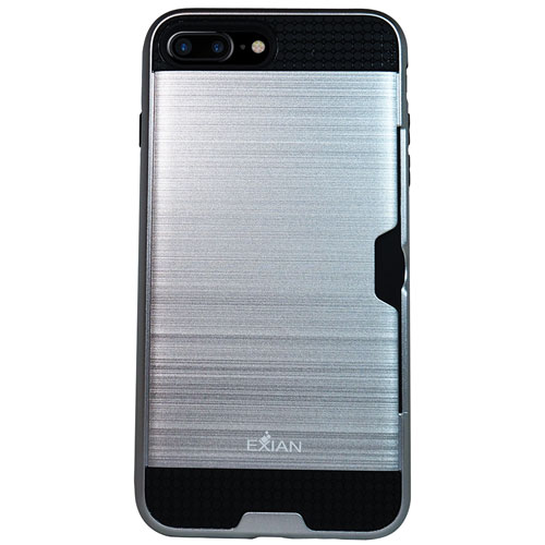 Exian iPhone 7 Plus Fitted Soft Shell Case - Silver