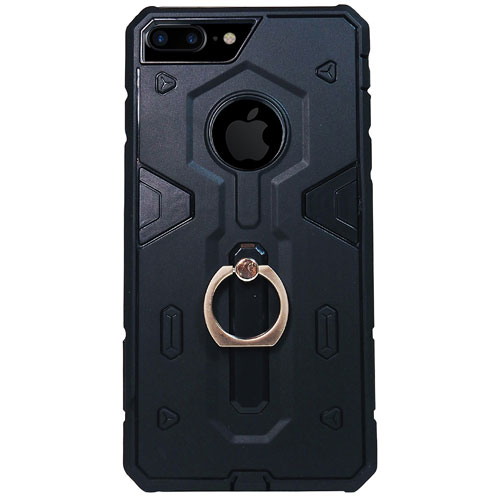 Exian iPhone 7 Plus Fitted Soft Shell Case - Black