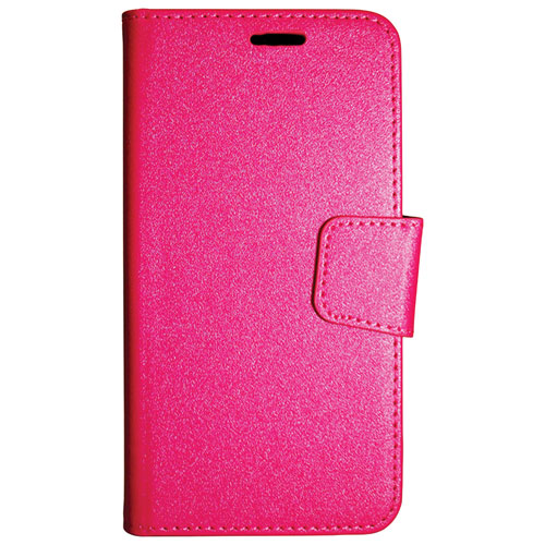 Exian iPhone 7 Plus Wallet Folio Case - Pink