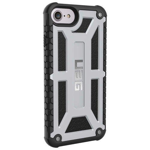 UAG Monarch iPhone 6S/7/8 Fitted Hard Shell Case - Platinum Silver/Black