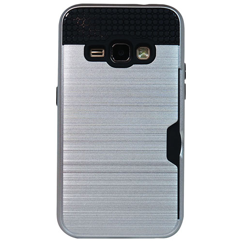 Exian Galaxy J1 Fitted Soft Shell Case - Silver