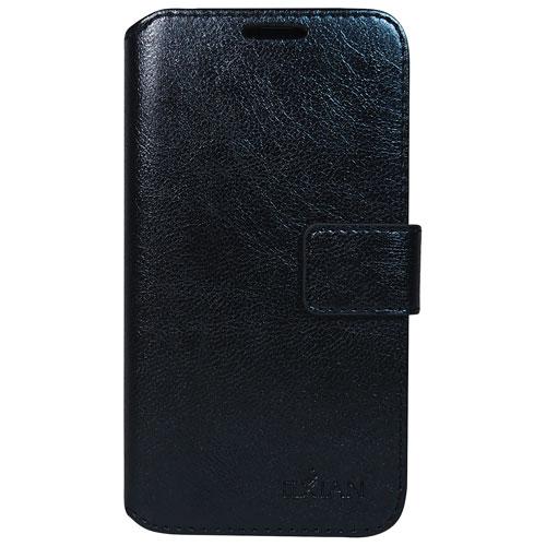 Exian Galaxy J1 Wallet Folio Case - Black