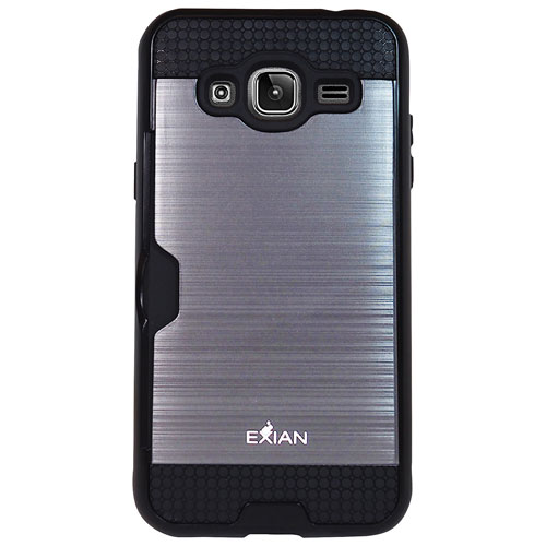 Exian Galaxy J3 Fitted Soft Shell Case - Silver