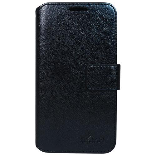 Étui folio portefeuille d'Exian pour Galaxy J3 - Noir