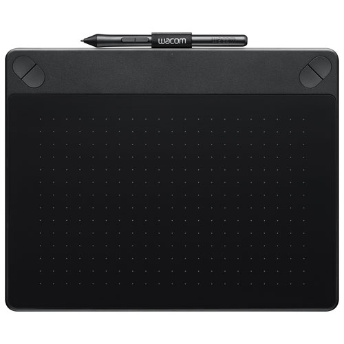 """Wacom Intuos 3D 8.5"""" x 5.3"""" Graphic Tablet with Stylus (CTH690TK) - Black"""