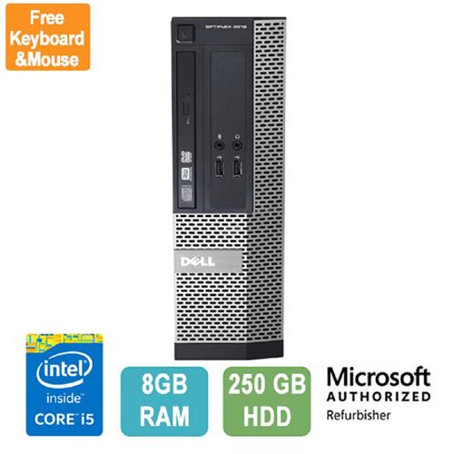 Dell OptiPlex 3010 SFF, Intel Core i5, 8GB RAM, 250GB HDD, DVD-RW, Win 10 Pro - Refurbished