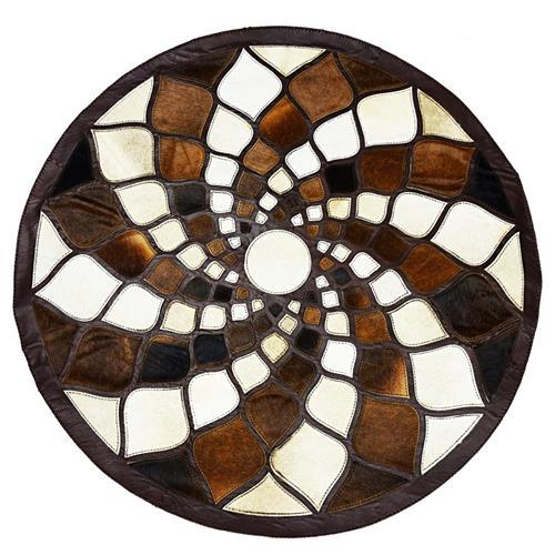 PEZON - Genuine Leather Handmade Carpet - Sun Flower