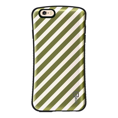 Shock Express Design Case - Cream & Gold Striped - iPhone 6/6S Plus