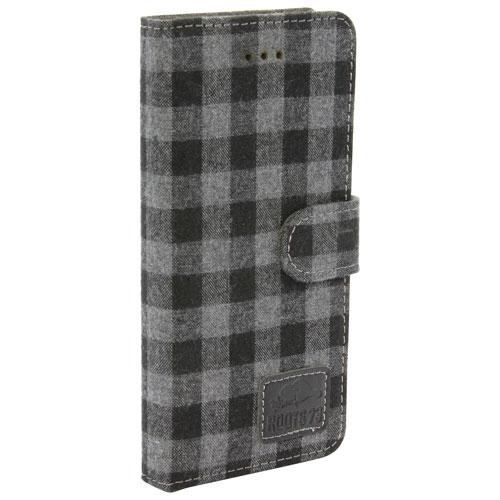 Roots 73 iPhone 7/8 Folio Case - Black/Grey