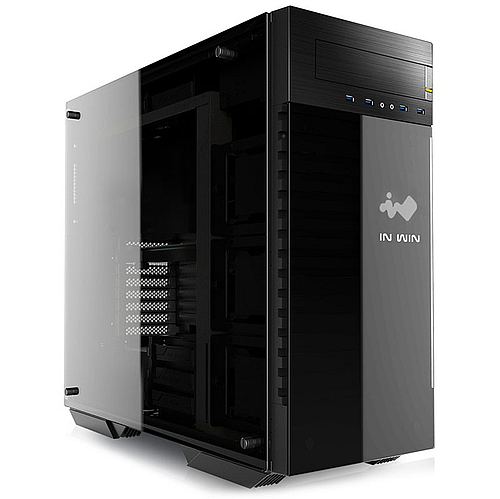 In-Win 509 Black/Gray RGB Tempered Glass ATX Case