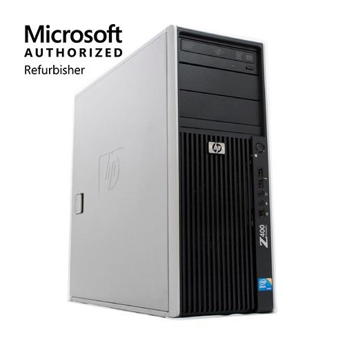 HP Z400 Workstation, Intel Xeon, 8GB RAM, 2TB HDD, DVD-RW, Windows 10 - Refurbished