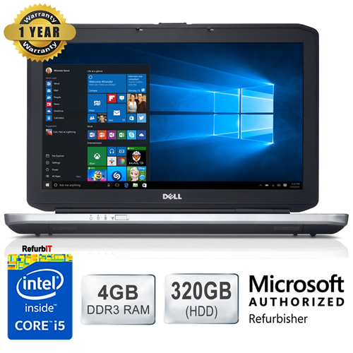 "Dell Latitude E5430, 14"" Display, Intel Core i5, 4GB RAM, 320GB HDD, DVD-RW, Windows 10 - Refurbished"