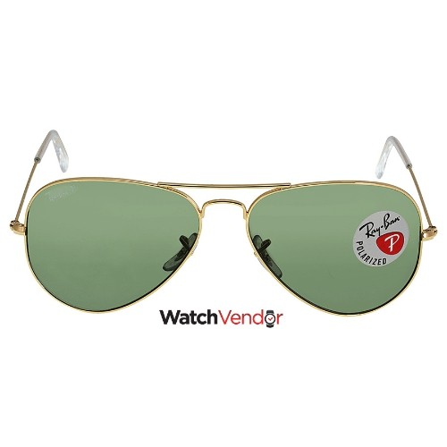 15323dccf5f Ray Ban Aviator Green Polarized Lens 58mm Sunglasses RB3025-001 58-58    Sunglasses - Best Buy Canada