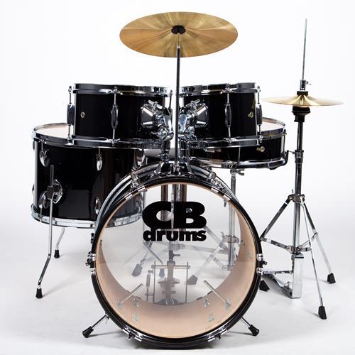CB JRX55PK JRX Junior Drum Kit - Cymbals, Throne, with Hardware, Black
