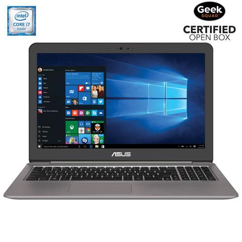ZenBook 4K 15,6 po d'ASUS - Arg (Core i7-6500U d'Intel/DD 1 To/SSD 128 Go/RAM 16 Go) - Boîte ouverte