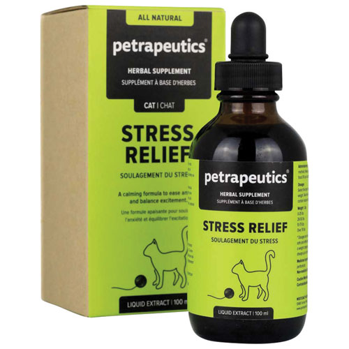 Petrapeutics Stress Relief Herbal Supplement for Cats - 100 ml
