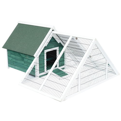 Pawhut Chicken Poultry Cage Coop Deluxe Large Nesting BoxRun Outdoor