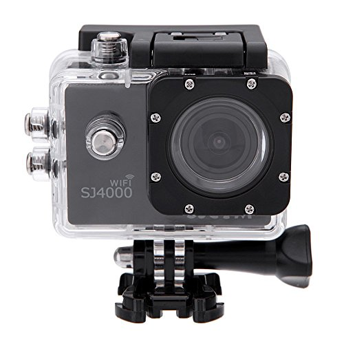 SJCAM Original SJ4000 WiFi Action Camera 12MP 1080P H.264 1.5 Inch 170? Wide Angle Lens Waterproof Diving HD Camcorder (Black)