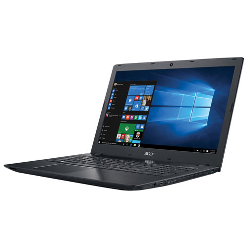 Portable 15,6 po Aspire E d'Acer - Noir (A10-9600P d'AMD/DD 1 To/RAM 8 Go/Windows 10)