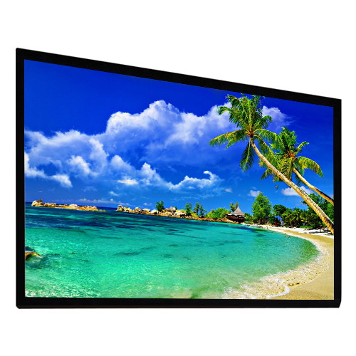 "Antra 133"" Fixed Frame Wall Projection Screen Matte White 16:9 with 1.1 Gain 3D HDTV 1080p Ready"