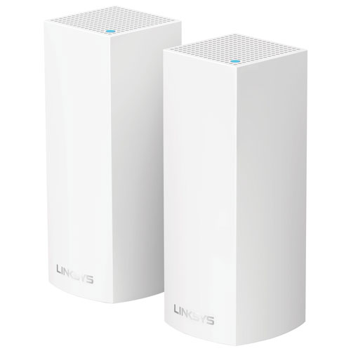 Linksys Velop Wireless AC4400 MU-MIMO Mesh Whole Home Wi-Fi System (WHW0302-CA) - 2 Pack