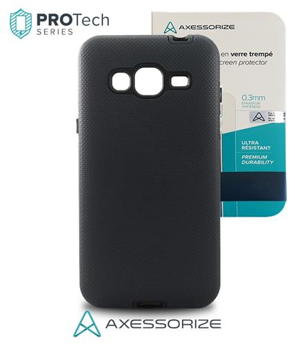 Samsung J3 Protech Black +Tempered Glass