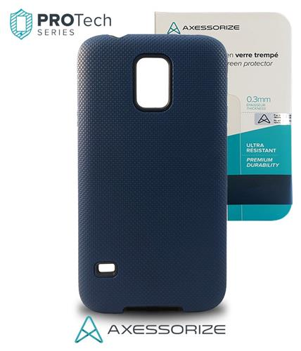Protech Galaxy S5 Cobalt Blue + Tempered Glass