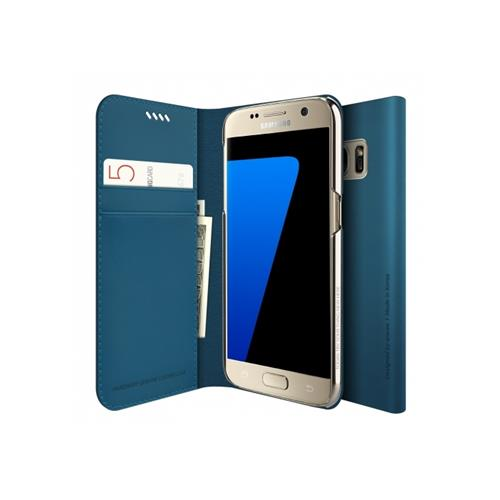 Araree Slim Diary Galaxy S7 Bleu