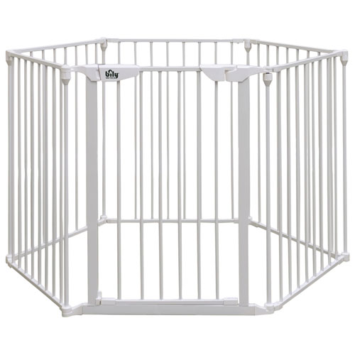 Bily Freestanding Metal Superyard White Baby Gates Best Buy Canada